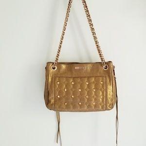 Rebecca Minkoff copper stud leather shoulder bag
